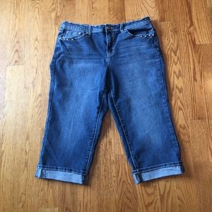 EUC cropped slimmer jeans size 14